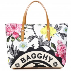 BAGGHY SHOPPING TESSUTO STAMPATO DONNA