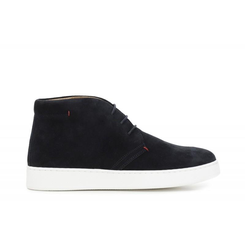 Il Kuoio - Cintura artigianale da uomo reversibile in pelle e camoscio